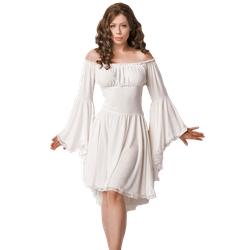 Mittelalter Kleid weiß