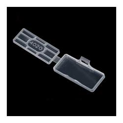 RheVeTec RheFLEX Kabelbinder Markierboxen Mini für Kabelbinder MBM Kabelbeschriftung Transparent / Wasserfest (Spritzwasser, Regen etc) 40 x 20 mm