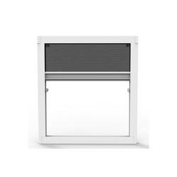 Insektenschutzplissee Insektenschutz Plissee ohne Bohren für Fenster und Dachfenster - Dachfensterplissee Moskitonetz Fliegengitter Mückengitter Fenstergitter Fliegenschutz, Nematek weiß
