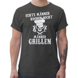 Shirtracer T-Shirt Echte Männer kochen nicht Männer grillen - Küche & Grill - Herren Premium T-Shirt M