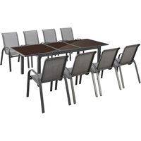 MERXX Amalfi Set 9-tlg. Tisch 240 x 100 cm anthrazit