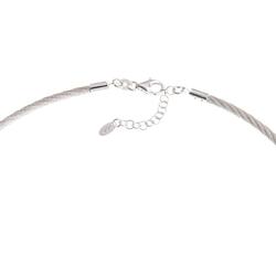 Silberkettenstore Halsreif Omegareif gedreht 925 Silber 3mm