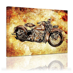 Bilderdepot24 Leinwandbild, Leinwandbild - Motorrad Vintage 60 cm x 50 cm