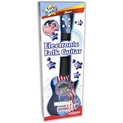 Elektronische Folk-Gitarre mit Licht-Effekten blau