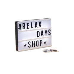 relaxdays LED Dekolicht Light Box mit 3 Zeilen