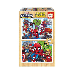 Educa Puzzle Marvel Super Heros Puzzle, 2x25 Teile, Puzzleteile