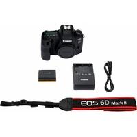 Canon EOS 6D Mark II Spiegelreflex Kamera, 7,7 cm (3 Zoll) Display schwarz