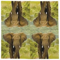 Linoows Papierserviette 20 Servietten Elefant, Afrikanische Tiere der, Motiv Elefant, Afrikanische Tiere der Elefant