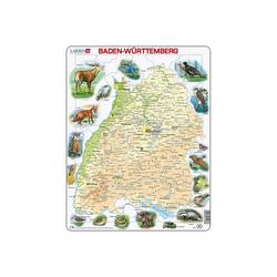 Larsen Puzzle Rahmen-Puzzle, 63 Teile, 36x28 cm,, Puzzleteile