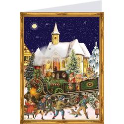 Postkarten-Adventskalender Zug