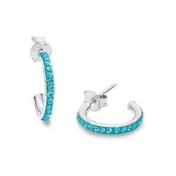 Amor Paar Creolen 9209668, mit Kristallglassteinen
