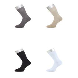 ichwillgartenmoebel.de 6 Paar Socken - weiche & verstärkte Strümpfe aus Bambus 34 - 37 weiß