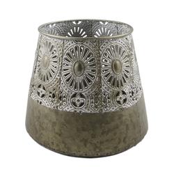 Parts4Living Windlicht Laterne aus Metall im orientalischen Stil 18 cm