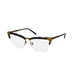 Gucci GG 0660O 001, inkl. Gläser, Cat Eye Brille, Damen