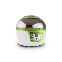 Klarstein Heissluftfritteuse VitAir Turbo Heißluftfritteuse grün-weiß 1400W Grillen Backen 9l, 1400 W, Heißluftfritteuse zum öllosen Frittieren, Backen, Grillen und Rösten grün