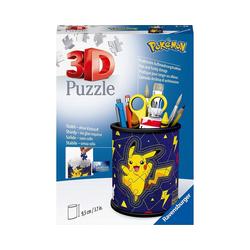 Ravensburger 3D-Puzzle 3D-Puzzle Utensilo Pokémon Pikachu, 54 Teile, Puzzleteile