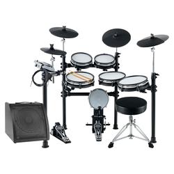 XDrum DD-530 Mesh Heads E-Drum MAXI LIVE KIT mit Drum-Monitor und Hocker