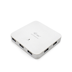 i-tec USB-C Metal Charging HUB 7x USB 3.0 + Power Delivery 60W