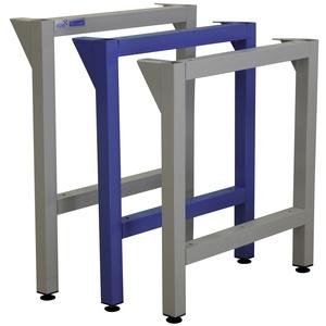ADB Werkbankfuß Gestell Stützfuß für Werkbänke Tiefe 700 mm, Standfußhöhe: 750mm, Farbe (RAL): Lichtblau (RAL 5012)