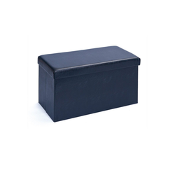 ebuy24 Aufbewahrungsbox Sanne Aufbewahrungsbox Hocker, faltbar mit Deckel, schwarz 76 cm x 38 cm x 38 cm