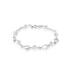Elli Armband Kristalle Perlen 925 Silber 18 cm
