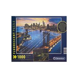 Clementoni® Puzzle Clementoni 97769 - Fluorescent-Puzzle - New York, 1000 Teile, leuchtet im Dunkeln, 1000 Puzzleteile