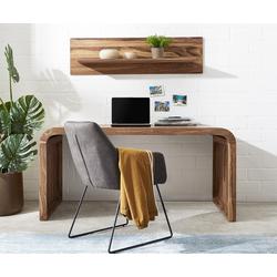DELIFE Schreibtisch Wally 160x75 cm Sheesham Natur Massivholz, Schreibtische