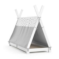 VitaliSpa® Kinderbett Kinderbett Hausbett Tipi + Überwurf 80x160cm Indianerzelt Indianerbett