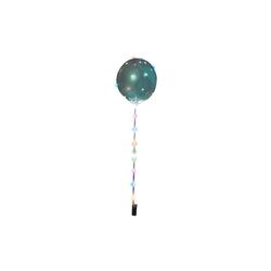 Happy People Luftballon Leuchtballon mit Lichterkette, transparent grün
