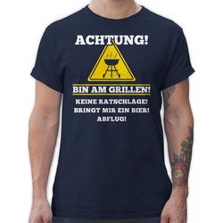 Shirtracer T-Shirt Bin am Grillen - Grill - Herren Premium T-Shirt XXL