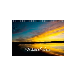 Wasserlinien (Tischkalender 2021 DIN A5 quer)