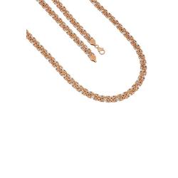 Firetti Goldkette Königskette, 8 mm, glänzend, ziseliert, glatt, bicolor