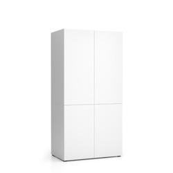 Küchenschrank nika 1000 x 600 x 2000 mm, weiß