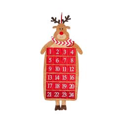 Hotex Wandkalender Adventskalender Rentier 39 x 87 cm