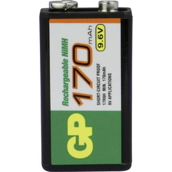 GP Batteries 6LR61 9V Block-Akku NiMH 170 mAh 9.6V 1St.
