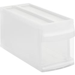 Rotho SYSTEMIX Schubladenbox, 1 Schubfach, Aufbewahrungsbox aus PP-Kunststoff , Maße: 395 x 170 x 203 mm, transparent