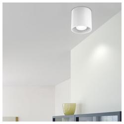 etc-shop LED Einbaustrahler, Aufbauleuchte GU10 Aufbaustrahler Aufputz Lampe Decke Aufbauspot weiß, Aluminium, DxH 10x10 cm