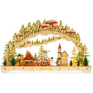 SIKORA Schwibbogen LB91 Winterdorf XL mit LED Beleuchtung B:57cm