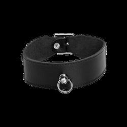 Rimba Breites Leder-Halsband mit O-Ring