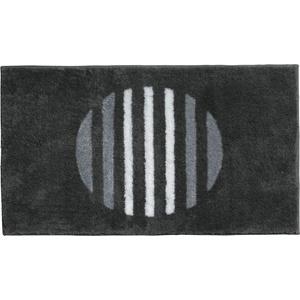 Badematte Erwin Müller, Höhe 20 mm, Streifen grau rund - rund:90 cm x rund:90 cm x 20 mm