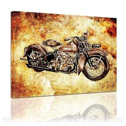 Bilderdepot24 Leinwandbild, Leinwandbild - Motorrad Vintage 80 cm x 60 cm