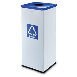 Mülleimer für mülltrennung, 50 l, silberfarben, papier