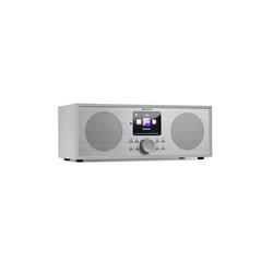 Auna Silver Star Stereo Internet DAB+/UKW Radio, WiFi, BT, DAB+/UKW, weiß Radio (16 W, Bluetooth, mit Bluetooth, 2.1 System mit FM/DAB+, WLAN, Bluetooth)