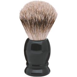 ERBE Rasierpinsel XL, Dachs-Zupfhaar, schwarzer Kunststoffgriff