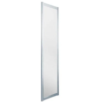 0703 75 x 185 cm Alu silber matt/Kunststoffglas Perle