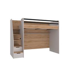 Möbel-Lux Kinderbett New Options, Almila Hochbett Kinderbett New Options mit USB und Treppe