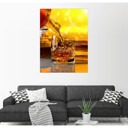 Posterlounge Wandbild, Whisky mit Eis 70 cm x 90 cm