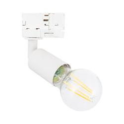Strahler für E27 Glühbirne für 3-Phasenstromschienen Weiß