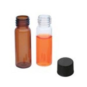 neoLab 7-0677 Kurzgewindeflaschen, ND9, Silanisiert, Schriftfeld/Füllmark, 1.5 mL, Braunglas (100-er Pack)