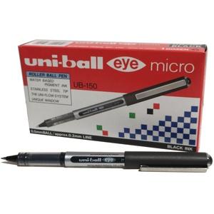 Uni-Ball UB150 Eye Tintenroller Mikro 0,5 mm Spitze 0,2 mm Strichbreite 12 Stück schwarz